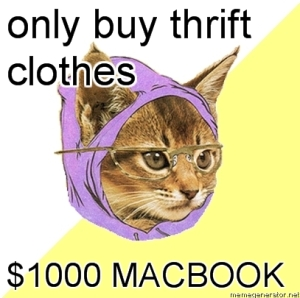 Hipster Kitty MacBook