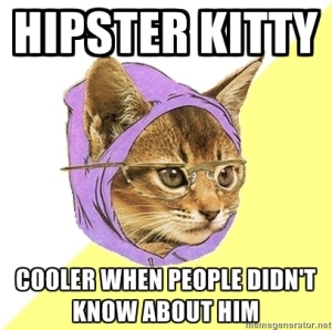 Hipster Kitty cooler