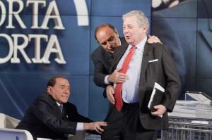 Silvio Berlusconi ospite alla trasmisione porta a porta