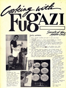 cooking with fugazi
