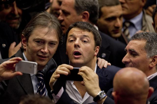 Matteo Renzi, inaugura a Torino la campagna elettorale per le prossime elezioni Europee.